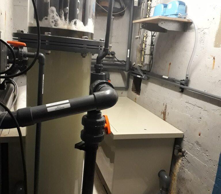 Umbau eines Filtersystems in einem Nordseemuseum